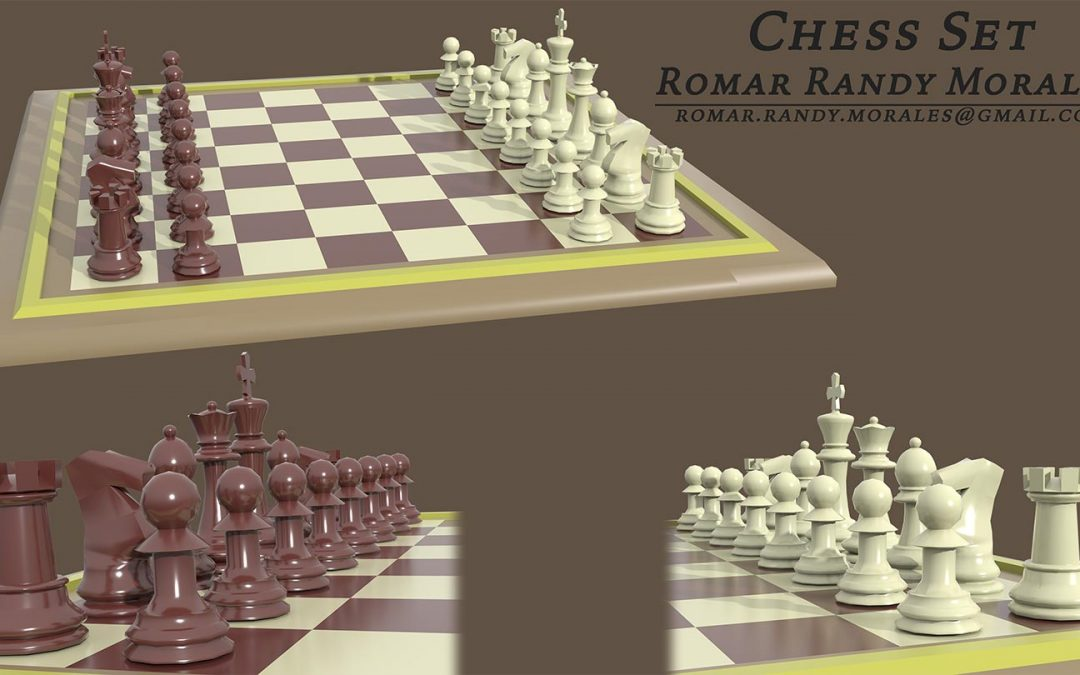 Chess Set Render