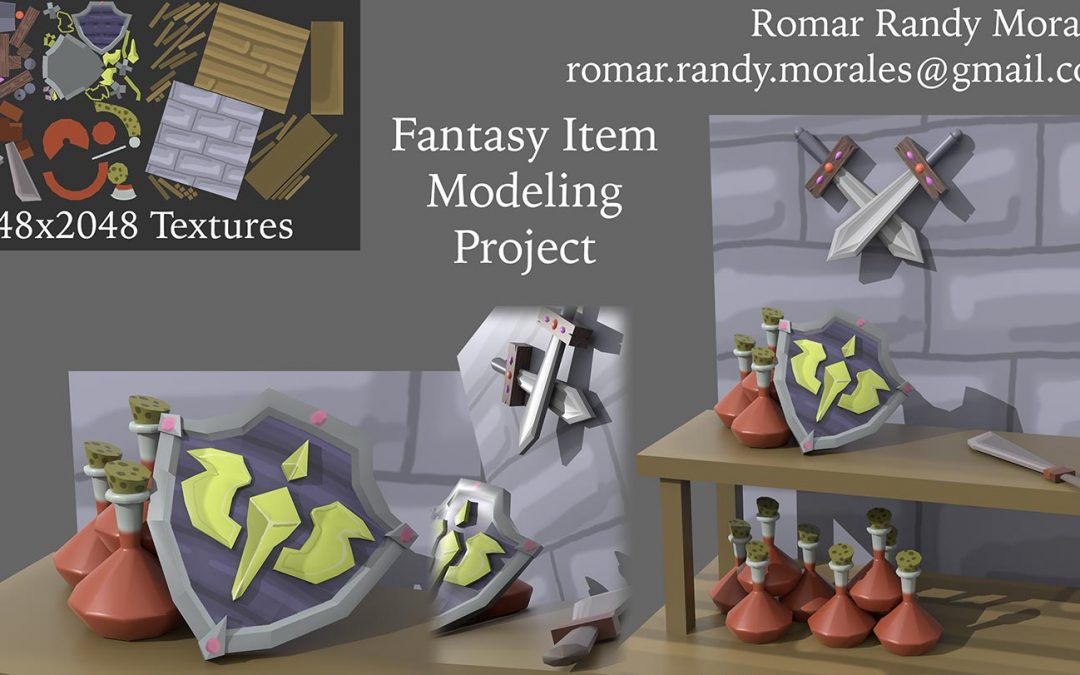 Fantasy Equipment Render